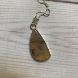 Montana Agate And sterling silver necklace